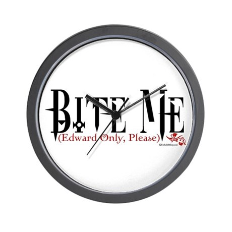 Bite Me (Edward Only, Please) Wall Clock