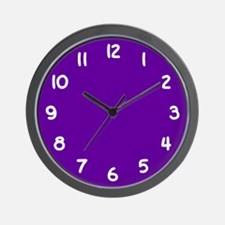 Violet Purple and White Wall Clock