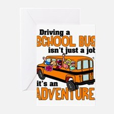 Driving a School Bus Greeting Cards