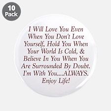 "ALWAYS Enjoy Life! 3.5"" Button (10 pack)"