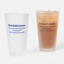 """""""We Are QA"""" Drinking Glass"""