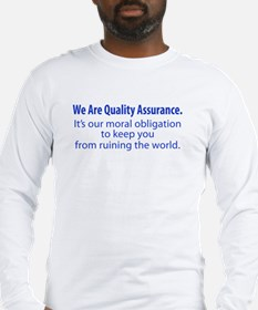 """We Are QA."" Long Sleeve T-Shirt"