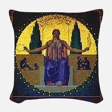 Peace Pavillion Maxmillian Par Woven Throw Pillow