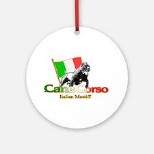 Cane Corso run Ornament (Round)