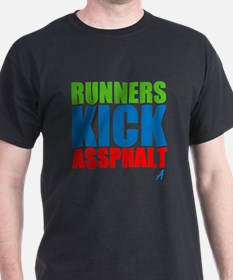 Runners Kick Assphalt // Men's Tee T-Shirt