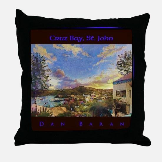 Cruz Bay, St. John Throw Pillow