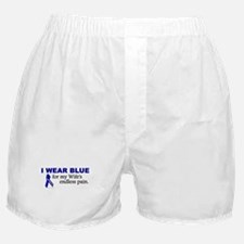 I Wear Blue For My Wife's Pain Boxer Shorts