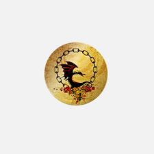 Cute, funny dragon Mini Button