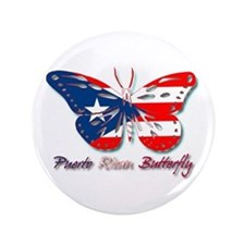 """Puerto Rican Butterfly 3.5"""" Button"""