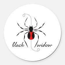 Black Widow Round Car Magnet