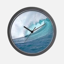 Waimea Bay Big Surf Hawaii Wall Clock