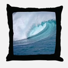 Waimea Bay Big Surf Hawaii Throw Pillow