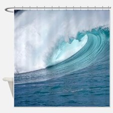 Waimea Bay Big Surf Hawaii Shower Curtain