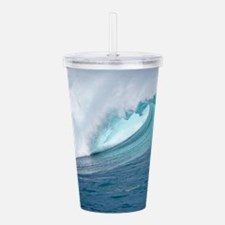 Waimea Bay Big Surf Hawaii Acrylic Double-wall Tum