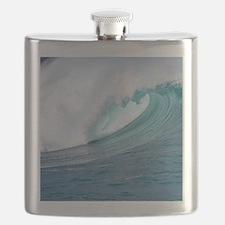 Waimea Bay Big Surf Hawaii Flask