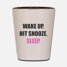 Wake Up and Sleep Shot Glass