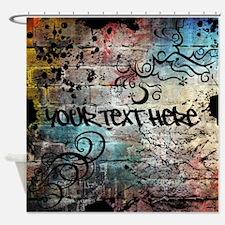 PERSONALIZED - Graffiti Wall * Shower Curtain