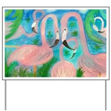 Flamingo Party Yard Sign