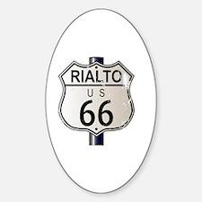 Cute Route 66 rialto Sticker (Oval)