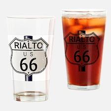 Cute Route 66 rialto Drinking Glass
