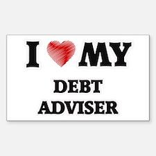 I love my Debt Adviser Decal