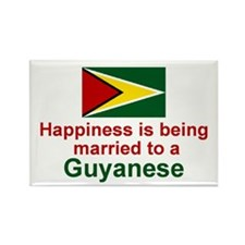 Guyana-Happily Married Rectangle Magnet