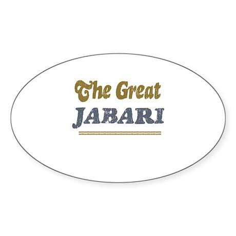 Jabari Oval Sticker