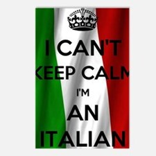 Cute Italian flag Postcards (Package of 8)
