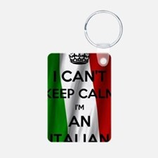 Cute Italian flag Aluminum Photo Keychain