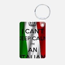 Cute Keep calm carry flute Keychains