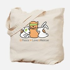Cool Peace love paws Tote Bag