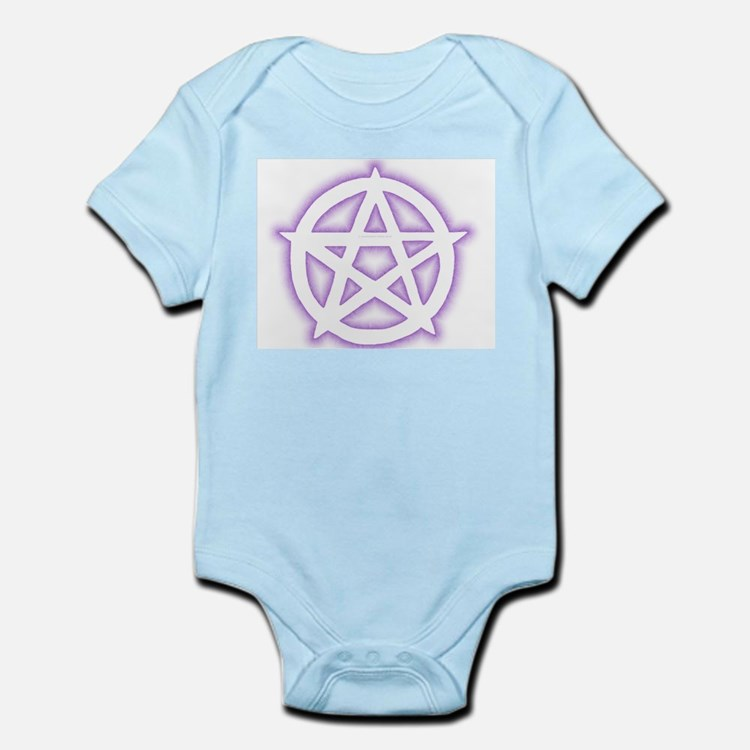 w&p Pentacle (Pagan/Wiccan  Infant Creeper