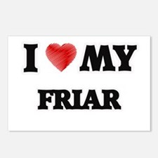 I love my Friar Postcards (Package of 8)