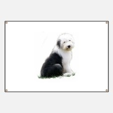 old english sheepdog puppy sitting Banner