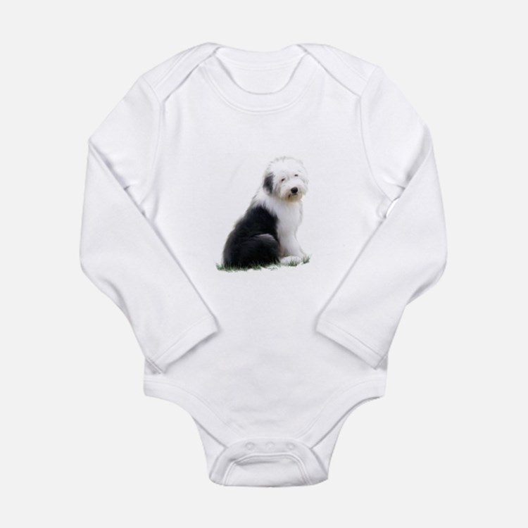 old english sheepdog puppy sitting Body Suit