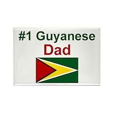 Guyana-#1 Dad Rectangle Magnet