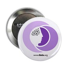 "Unique Lbda lbd lewy dementia pdd dlb 2.25"" Button (10 pack)"