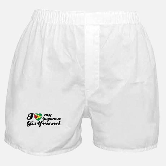 I love my Guyanese Girlfriend Boxer Shorts