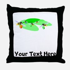Bees With Buckets (Custom) Throw Pillow