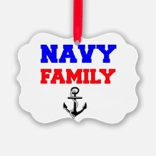 Navy Family Ornament
