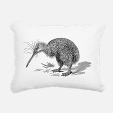 Vintage Kiwi Bird New Ze Rectangular Canvas Pillow