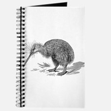 Vintage Kiwi Bird New Zealand Birds Black Journal