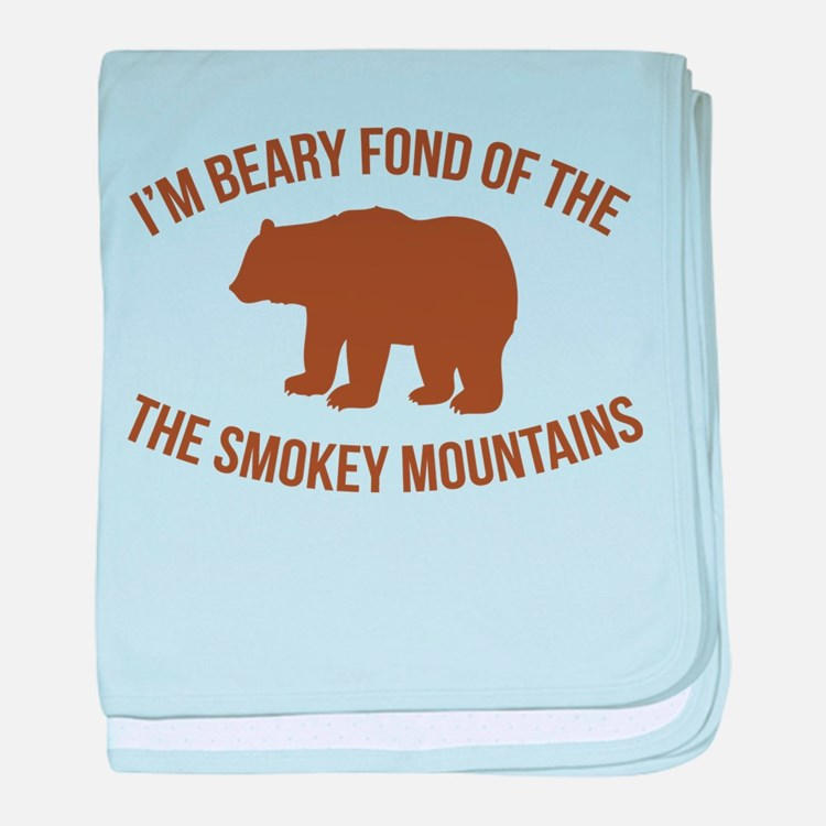 Beary Fond of the Smokey Mountains baby blanket