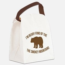 Beary Fond of the Smokey Mountain Canvas Lunch Bag