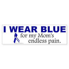 I Wear Blue For My Mom's Pain Bumper Bumper Bumper Sticker