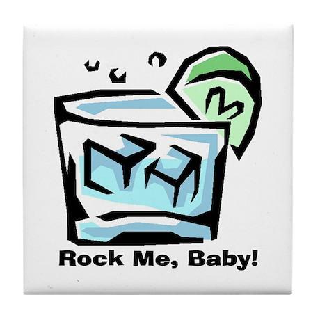 Rock Me, Baby Cocktail Tile Coaster