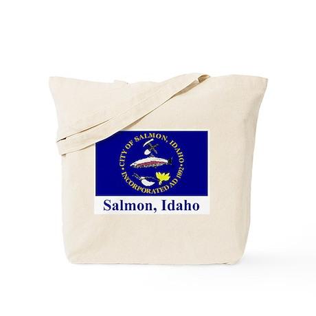 Salmon ID Flag Tote Bag