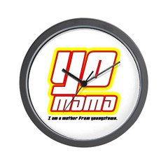 YO mama Wall Clock