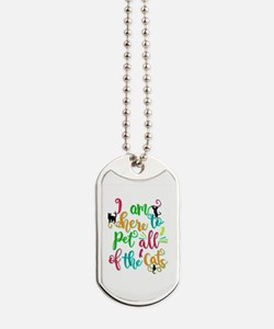 Cute Animal person Dog Tags