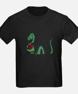 Loch Ness Monster Bagpipes T-Shirt